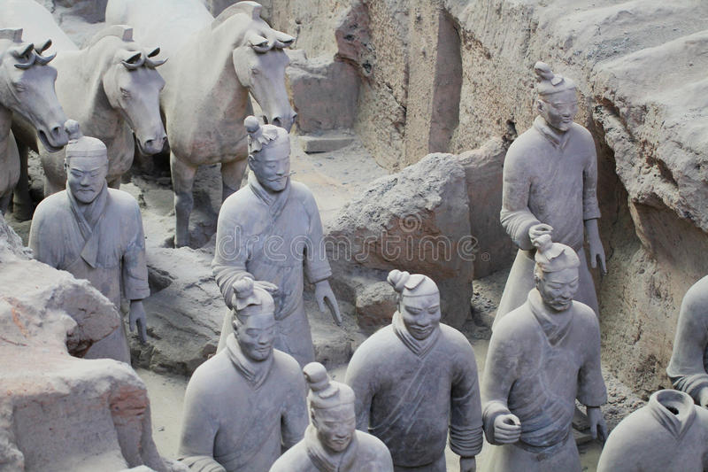 Download Stone Army Soilders Statue, Terracotta Army In Xian, China Stock Photo - Image: 83702160