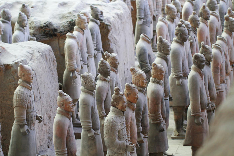 Download Stone Army Soliders With Horse Statue, Terracotta Army In Xian, China Stock Image - Image: 83704569