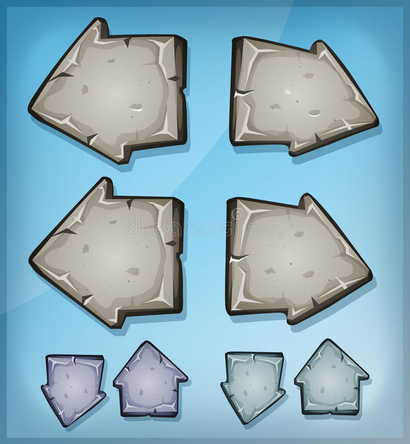 Stone Arrows Signs For Ui Game vector illustration