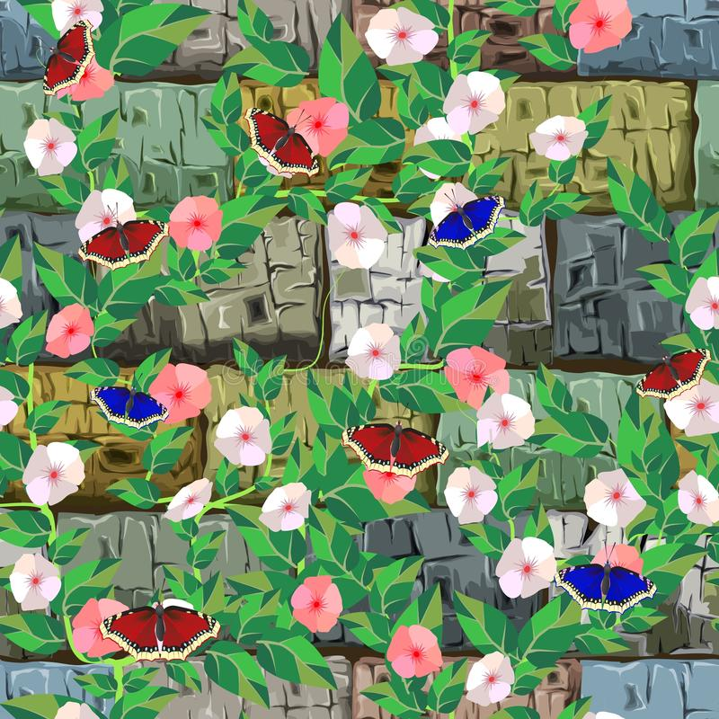 Stone background. Seamless texture. Vector. EPS 10 royalty free illustration