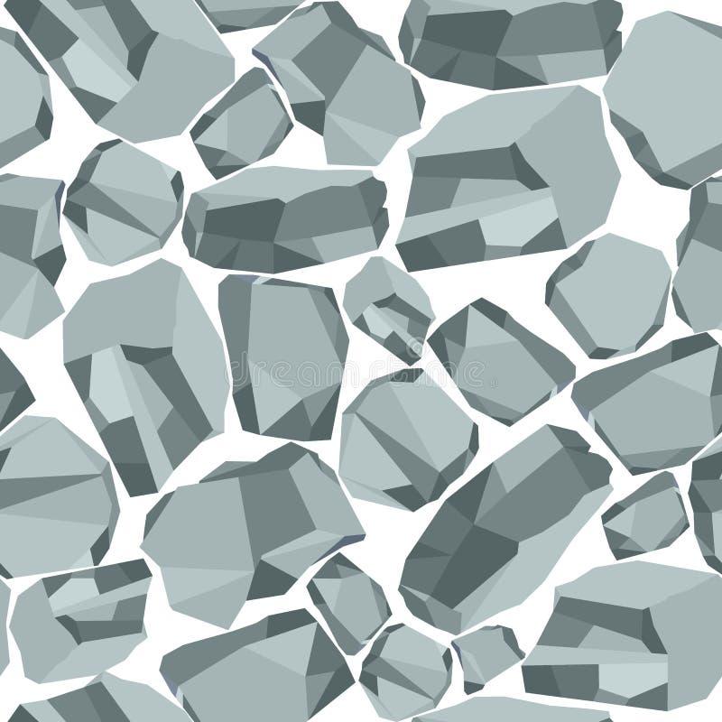 Stone background white vector illustration