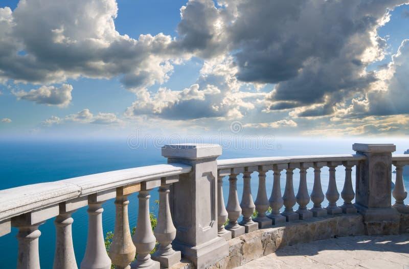 Stone balcony royalty free stock images
