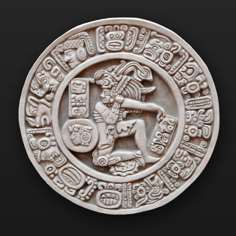 Download Stone Bas-relief Round Latin America Stock Photo - Image: 10779544