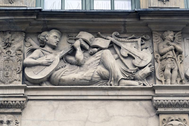 Stone bas-reliefs of Gdansk royalty free stock images