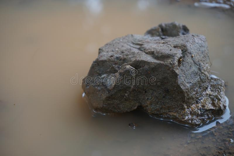 A stone in the basin Lonely. royalty free stock photos