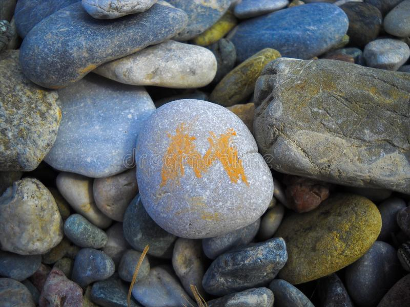 Stone beach on the beach.  stock photo