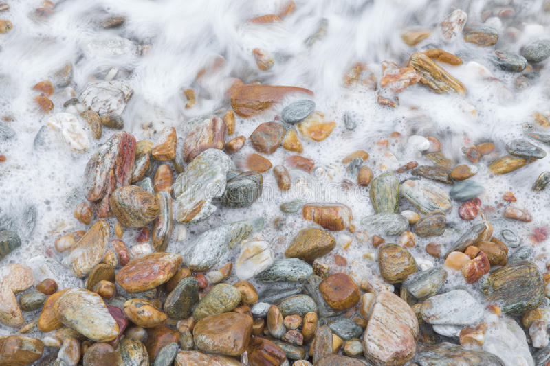 Stone beach. Background in nature royalty free stock photography