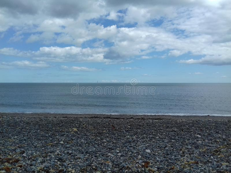 Stone beach Bray royalty free stock photo