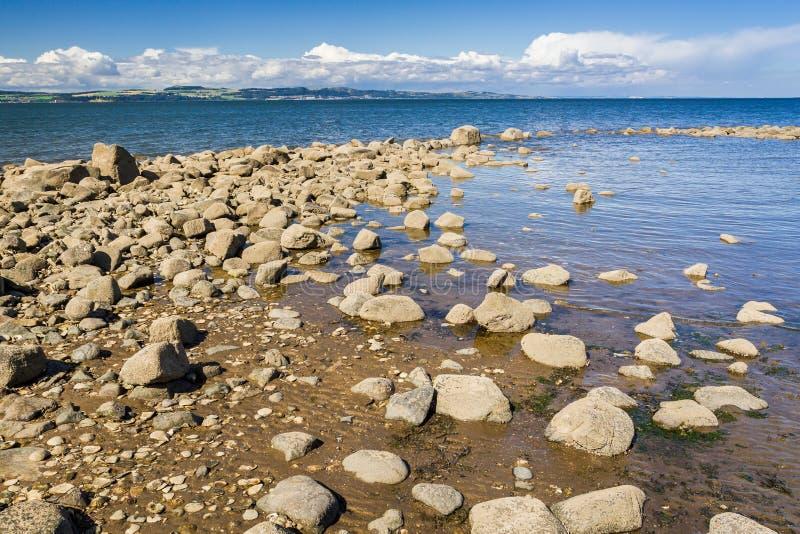 Stone beach in Scotland royalty free stock photos