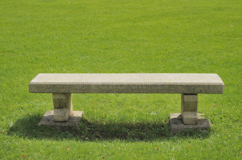 Download Stone bench on green field stock image. Image of europe - 21315281