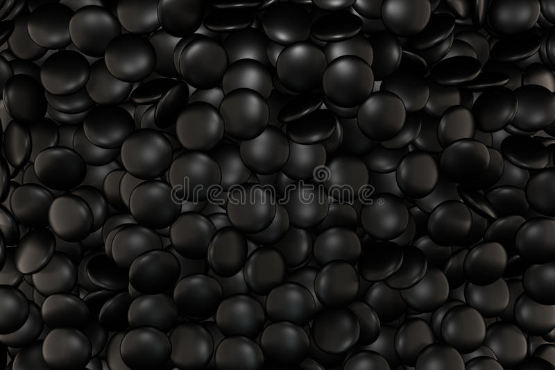 Stone Black Matt stock illustration