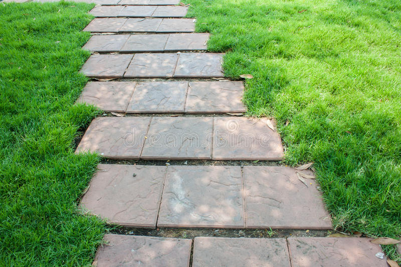 The Stone block walk path stock images