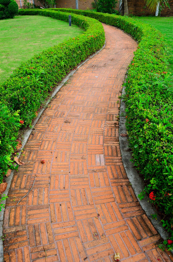 Download The Stone Block Walk Path In The Park Stock Image - Image: 25147899