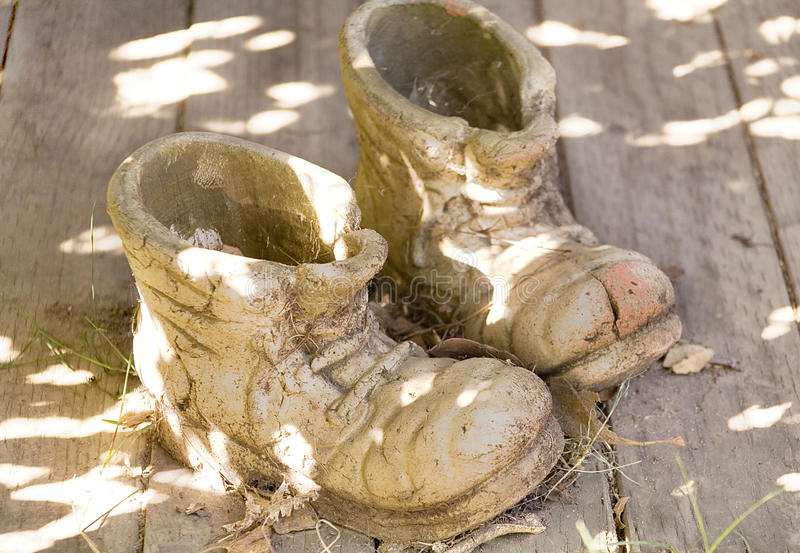 The stone boots stock photos