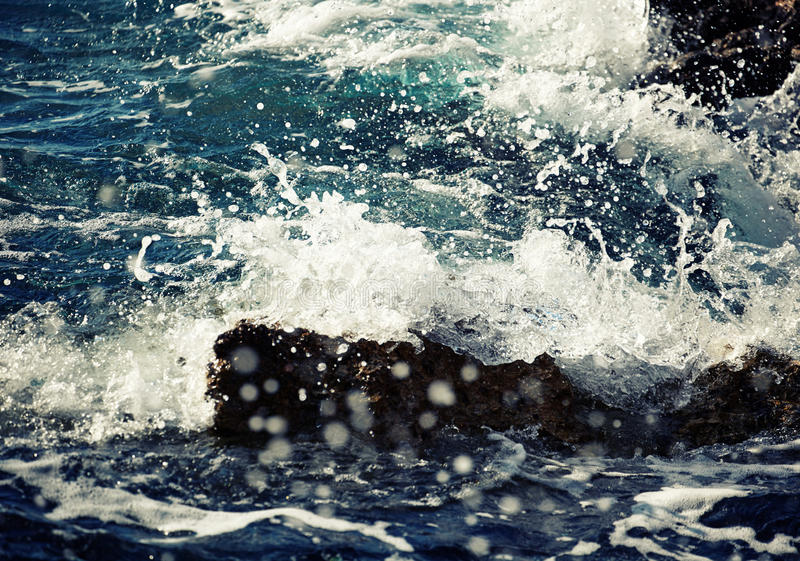 Download Stone Breakwater With Breaking Waves. Stock Image - Image of danger, adriatic: 35875535