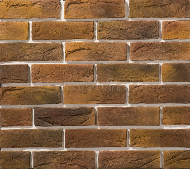 Stone and brick masonry walls stock photo