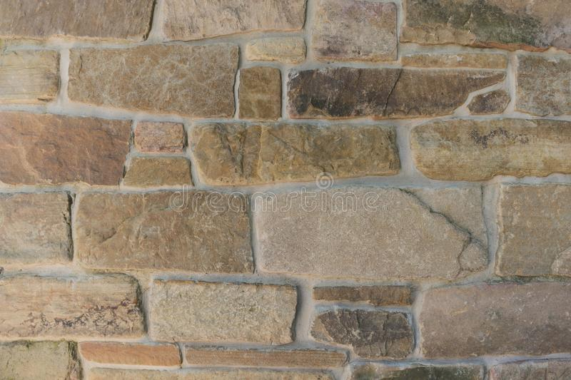 Stone brick wall background royalty free stock images