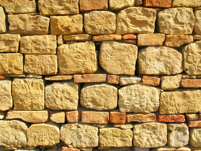 Stone and bricks background. Stone and bricks wall background and texture stock photography