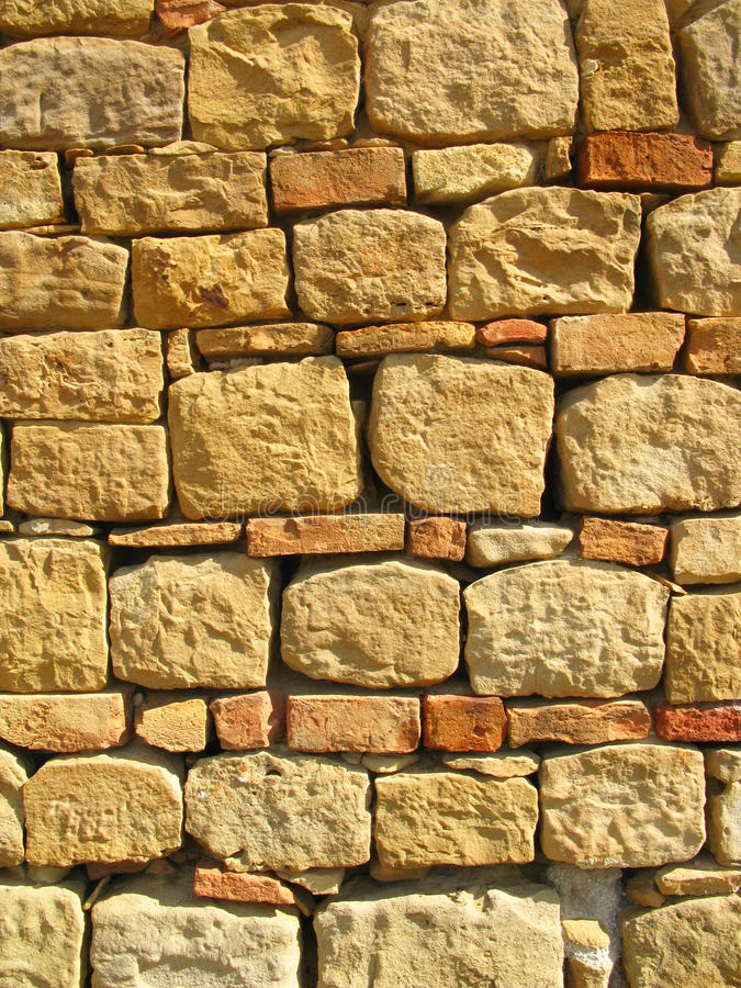 Stone and bricks background. Stone and bricks wall background and texture royalty free stock photos