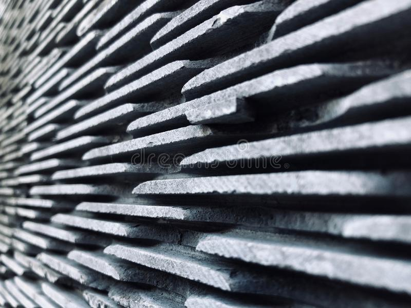 Stepped stone wall gives a layered feel stock photography
