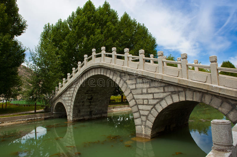 Download Stone bridge stock photo. Image of river, building, pond - 20881726