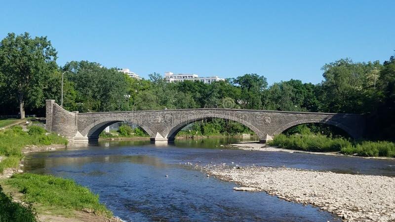 Stone Bridge Across the Humber River stock image
