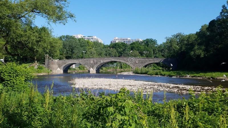 Stone Bridge Across the Humber River royalty free stock photos