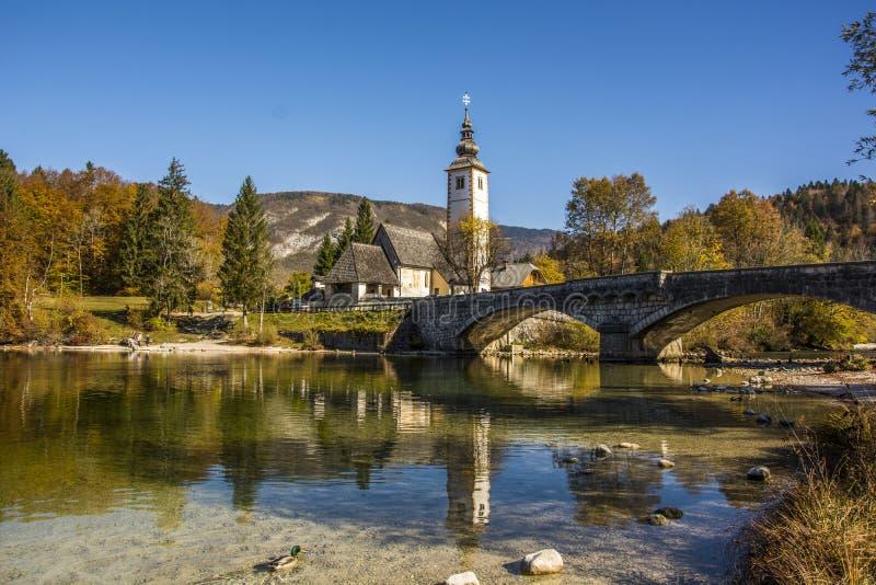 The Stone Bridge Over The Bohen`s Lake royalty free stock photos