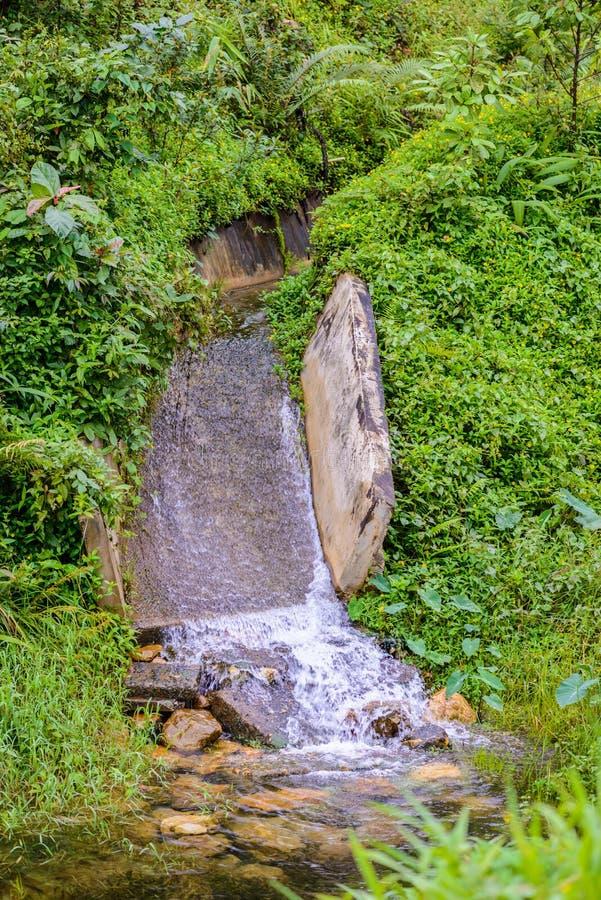 Stone bridge and waterway. In old mines at ` pilok mines `, Thongphaphum, Kanchanaburi, Thailand royalty free stock images