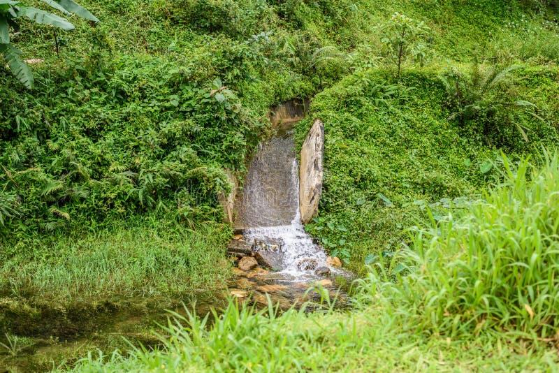 Stone bridge and waterway. In old mines at ` pilok mines `, Thongphaphum, Kanchanaburi, Thailand stock images