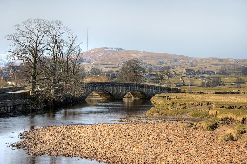 Stone Bridge in the Yorkshire Dales - winter royalty free stock photo