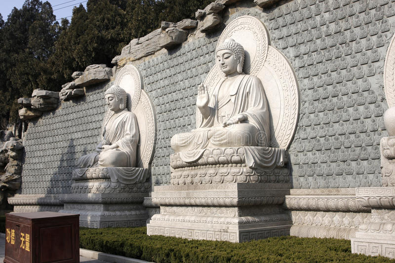 Stone Buddha stock photography