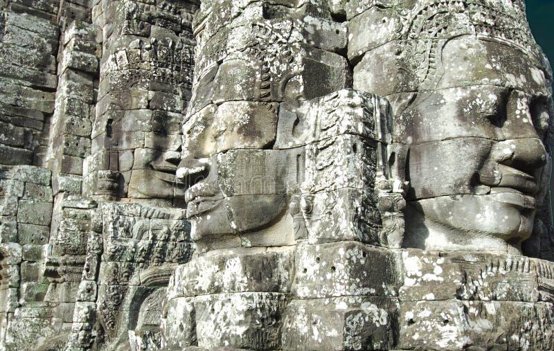 Stone Buddha Nature Faces royalty free stock photography