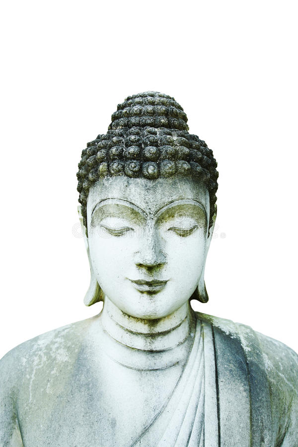 Stone Buddha statue stock photo