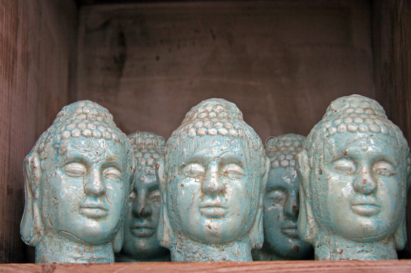 Stone Buddhas royalty free stock images