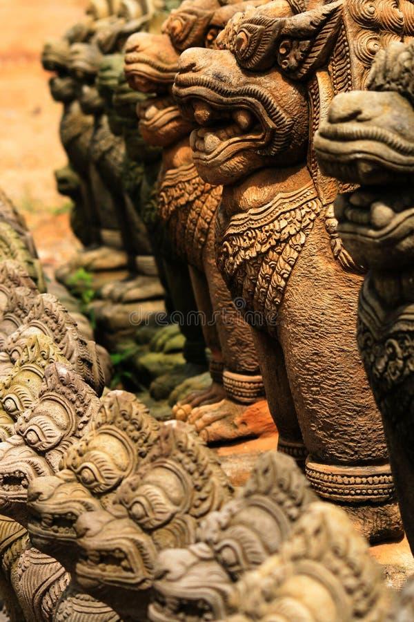 Free Stone Buddhist Garden Statues, Thailand. Stock Photo - 13438390