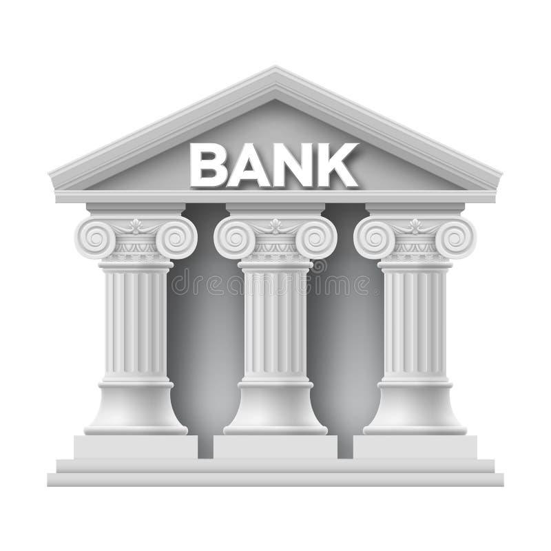 Stone building of bank stock illustration