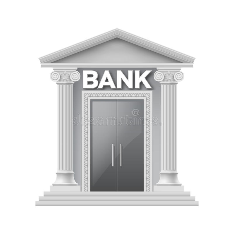 Stone building of bank stock illustration