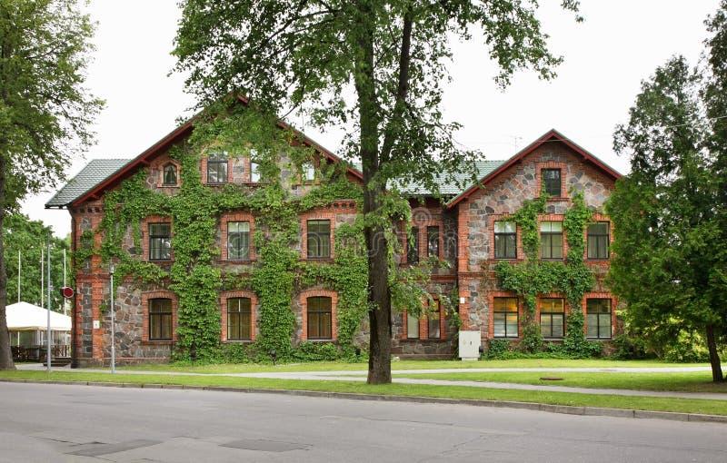 Stone building in Sigulda. Latvia.  royalty free stock image