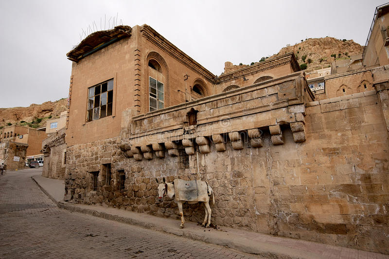 Download Stone Buildings And Donkey In Mardin Old Town In Turkey. Royalty Free Stock Photo - Image: 34127275