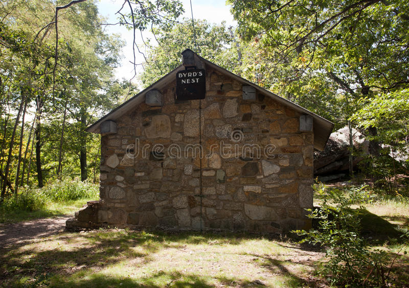 Stone Cabin Overlooking Shenandoah Valley Stock Image