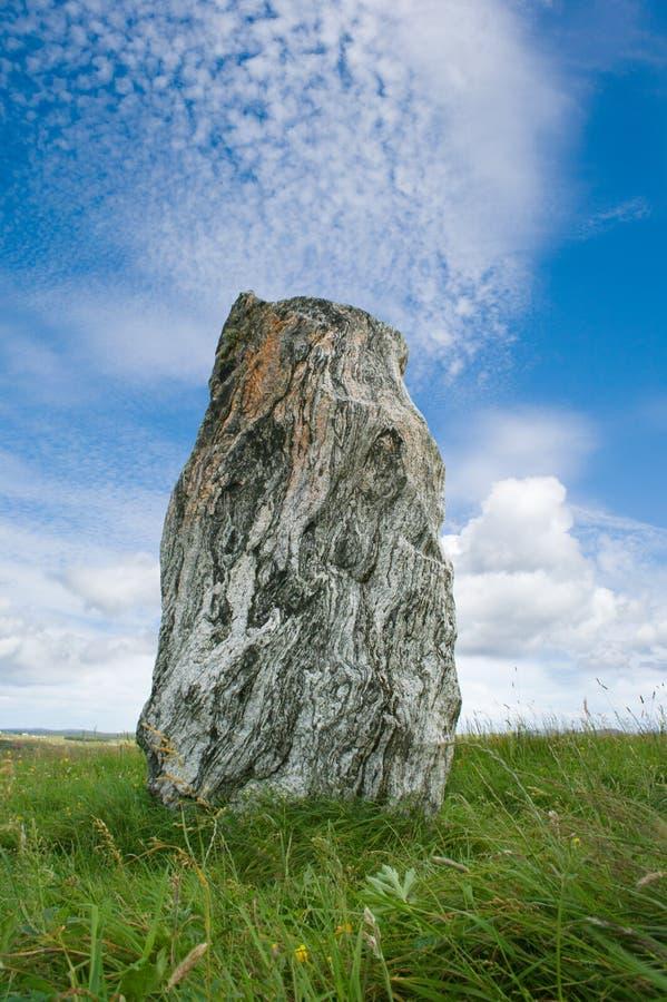 Stone of calanais royalty free stock photo