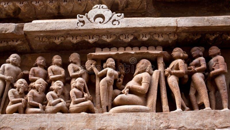 Stone carved in Khajuraho