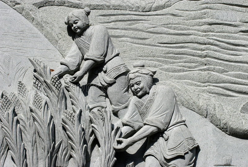 Stone carving 06 royalty free stock images