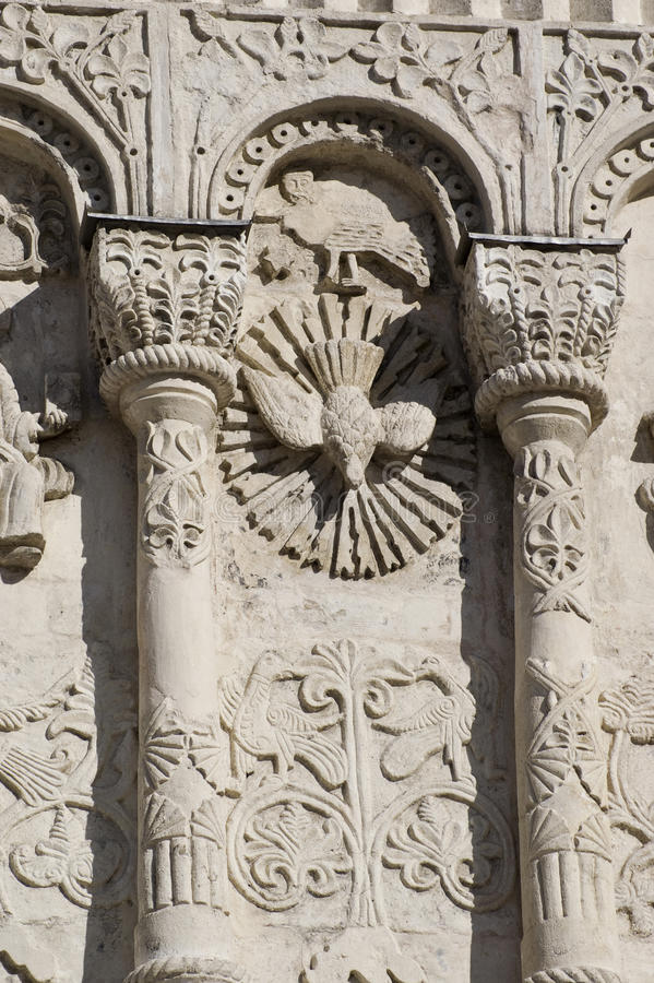 Download Stone Carving. St Demetrius Cathedral (1193-1197) Stock Photo - Image: 13480680