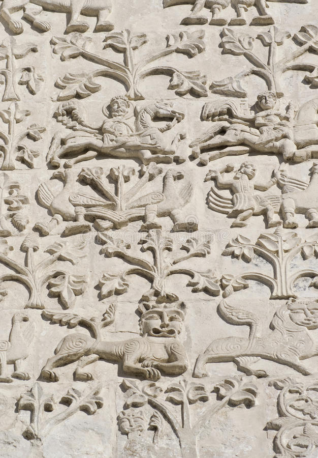 Download Stone Carving. St Demetrius Cathedral (1193-1197) Royalty Free Stock Image - Image: 13480746