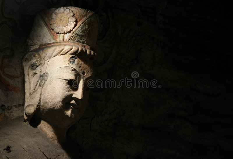 Stone Carving of Yungang 11 stock photography