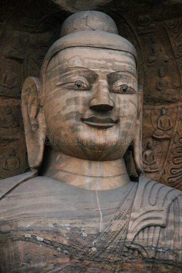 Stone Carving of Yungang Grottoes 102 stock images