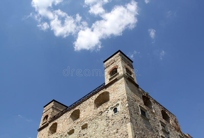 Stone castle stock image