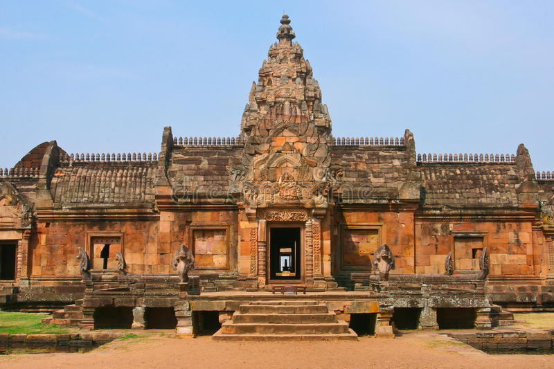 Stone castle in Phanom Roonk history park. In thailand stock photo